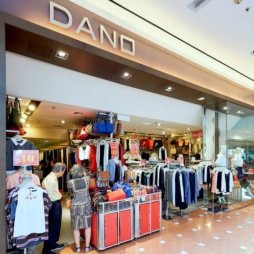 Dano clothing store at Jurong Point shopping mall in Singapore.