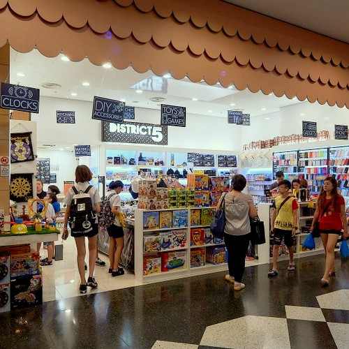District 5 gift shop at Jurong Point shopping mall in Singapore.