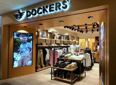 Dockers clothing shop at NEX mall in Singapore.