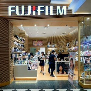Fujifilm Digital Imaging store at Jurong Point mall in Singapore.
