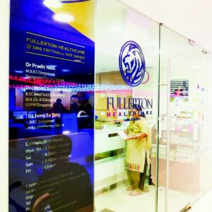 Fullerton Health medical clinic at Jurong Point mall in Singapore.