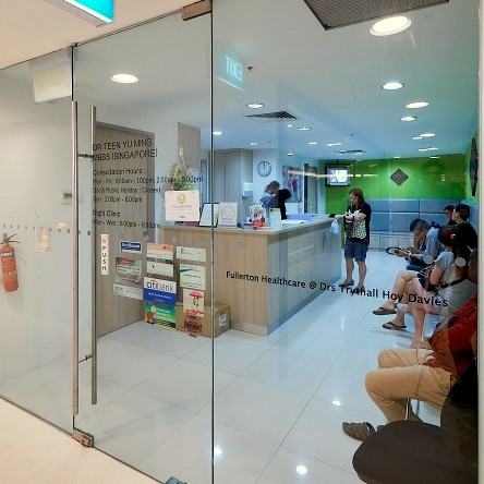 GJ Medical Clinic at Jurong Point shopping centre in Singapore.