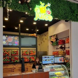 Goe Juice bar at Jurong Point shopping mall in Singapore.