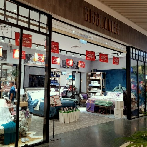 Highlander London home textile store at Jurong Point shopping mall in Singapore.