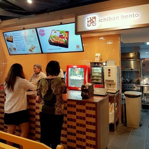 Ichiban Bento Japanese food kiosk at Jurong Point mall in Singapore.