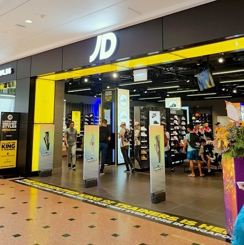 JD Sports store at Jurong Point shopping centre in Singapore.