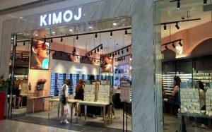 KIMOJ fashion accessories store at Suntec City mall in Singapore.