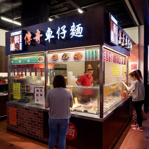 Legendary Cart Noodles shop at Jurong Point mall in Singapore.