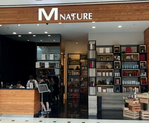 M Nature hair salon at Jurong Point shopping centre in Singapore.
