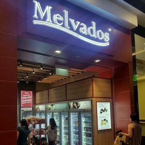 Melvados gourmet food store at Jurong Point mall in Singapore.