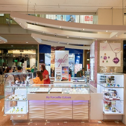 MFC Jewellery store at Jurong Point mall in Singapore.
