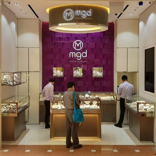 MGD Lifestyle Jewellery store at Jurong Point mall in Singapore.