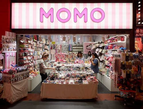 MOMO accessories store at Jurong Point mall in Singapore.