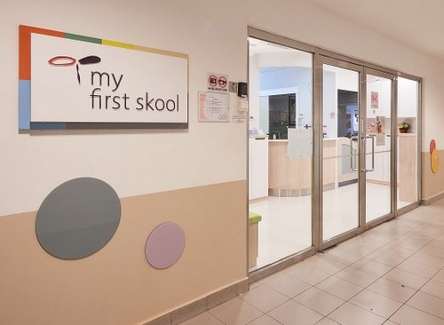 My First Skool pre-school at Jurong Point shopping centre in Singapore.