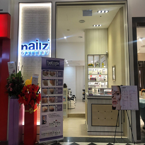 Nailz Gallery salon at Jurong Point shopping centre in Singapore.
