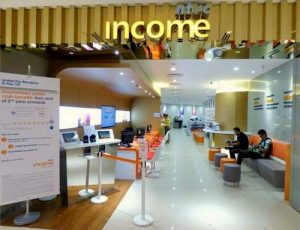 NTUC Income Insurance Co-operative branch at Westgate mall in Singapore.
