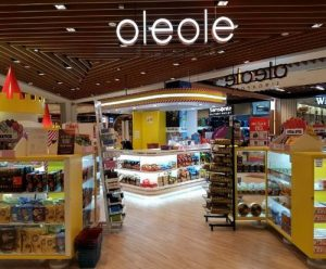 OleOle confectionery and liquor store at IMM mall in Singapore.