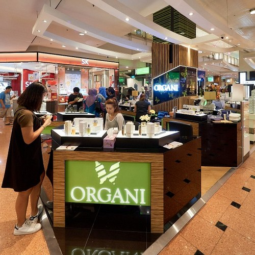 Organi beauty shop at Jurong Point mall in Singapore.