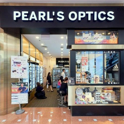 Pearl's Optics optical store at Jurong Point shopping mall in Singapore.