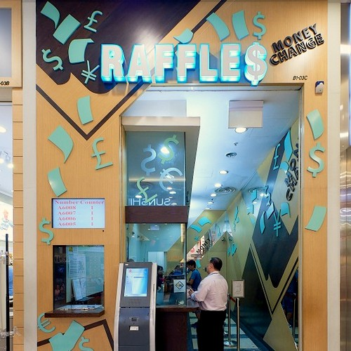 Raffles Money Change branch at Jurong Point shopping centre in Singapore.