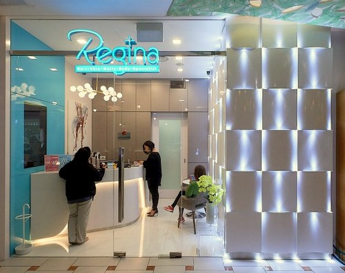 Regina hair removal salon at Jurong Point mall in Singapore.