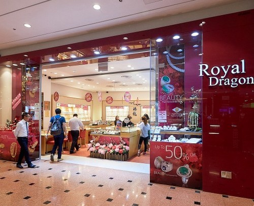 Royal Dragon Jewellery store at Jurong Point shopping centre in Singapore.
