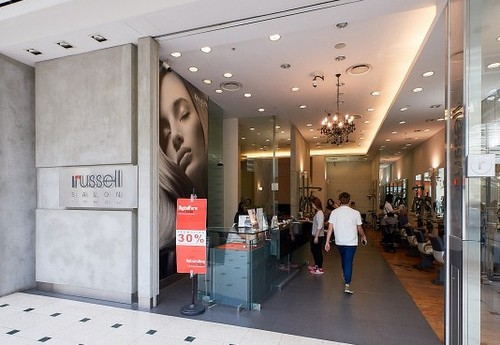 Russell Salon hair salon at Jurong Point mall in Singapore.