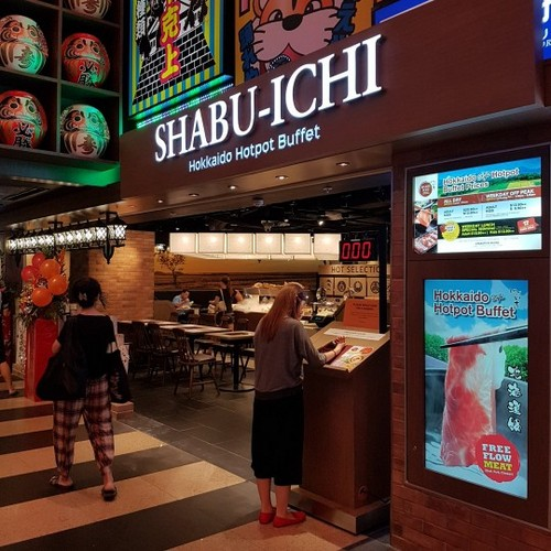 Shabu-ichi Hokkaido Hotpot Buffet restaurant at Jurong Point shopping centre in Singapore.