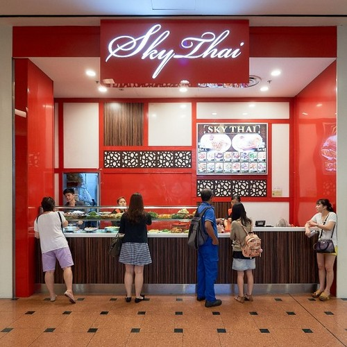 Sky Thai Fastfood restaurant at Jurong Point mall in Singapore.