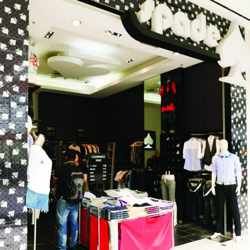 Spade clothing shop at Jurong Point mall in Singapore.