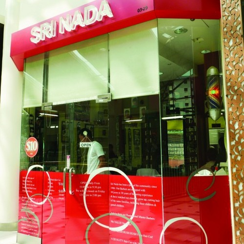 Sri Nada hairdressing salon at Jurong Poing shopping centre in Singapore.