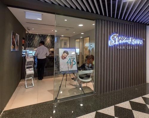Svanson Hair Center at Jurong Point shopping centre in Singapore.