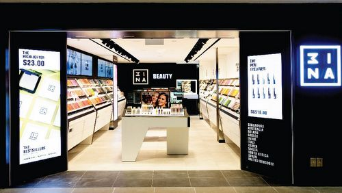 3INA beauty store at Junction 8 shopping centre in Singapore.