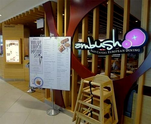 Ambush European restaurant at Junction 8 mall in Singapore.