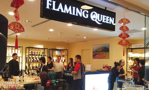 Flaming Queen home fragrance and aromatherapy shop at Wheelock Place in Singapore.