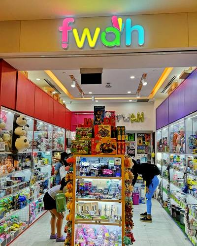 FWAH store at Bugis+ mall in Singapore.