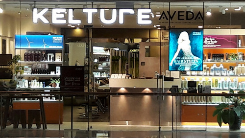Kelture Aveda spa salon at Paragon Mall in Singapore.