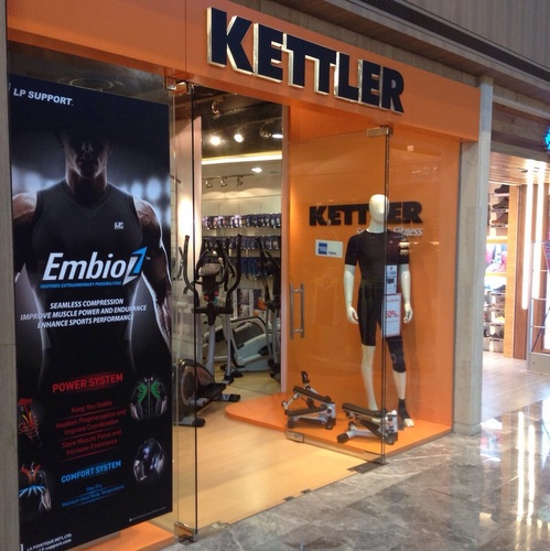 Kettler Sports & Fitness store at Paragon mall in Singapore.