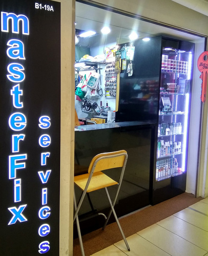 Master Fix Services outlet at Paragon mall in Singapore.