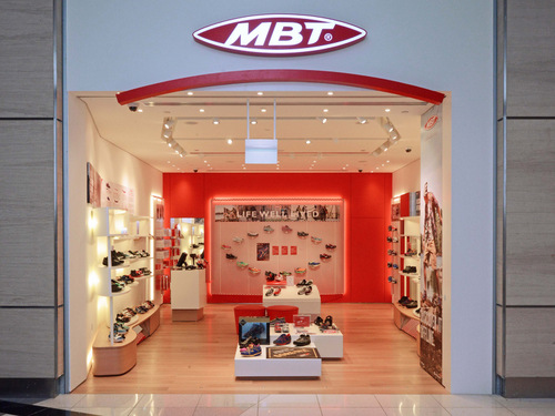 MBT shoe store at Paragon mall in Singapore.