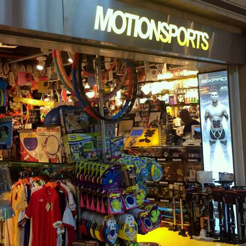 MotionSports store at Paragon mall in Singapore.