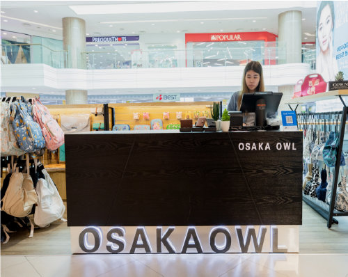 Osaka Owl bag store at Junction 8 mall in Singapore.