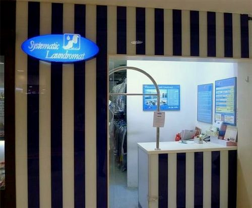 Systematic Laundromat at Junction 8 mall in Singapore.