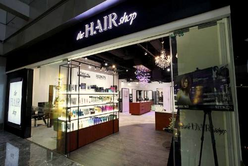 The Hairshop hair salon at Paragon mall in Singapore.