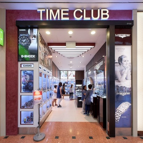 Time Club watch store at Jurong Point shopping centre in Singapore.