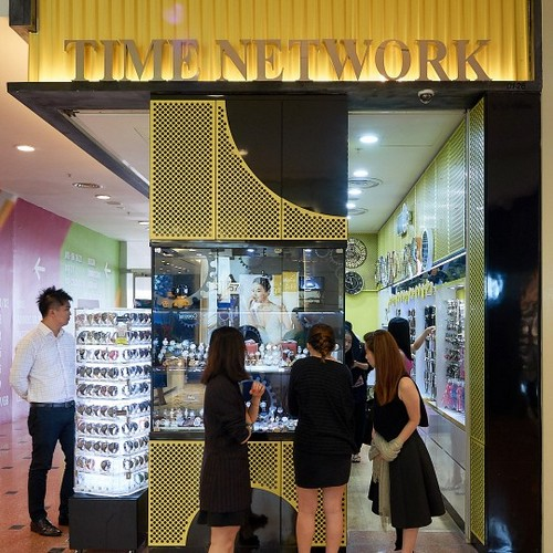 Time Network watch shop at Jurong Point mall in Singapore.