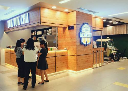 Tuk Tuk Cha outlet at NEX mall in Singapore.