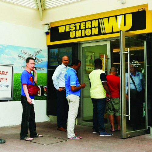Western Union branch at Jurong Point mall in Singapore.