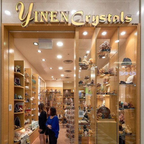 Yinen Crystals store at Jurong Point shopping centre in Singapore.