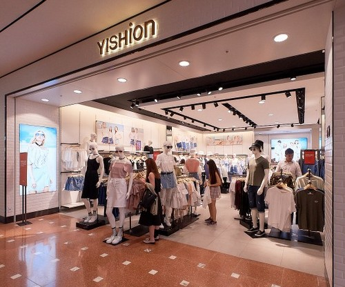 Yishion clothing store at Jurong Point mall in Singapore.